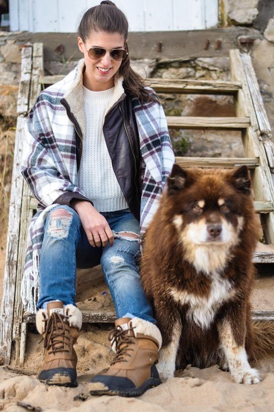 Thankfifi- On Elie beach - Ted Baker Furrly leather jacket & UGG Adirondack boots - fashion blogger streetstyle-15