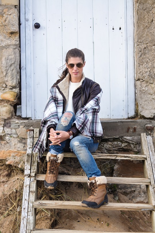 Thankfifi- On Elie beach - Ted Baker Furrly leather jacket & UGG Adirondack boots - fashion blogger streetstyle-12