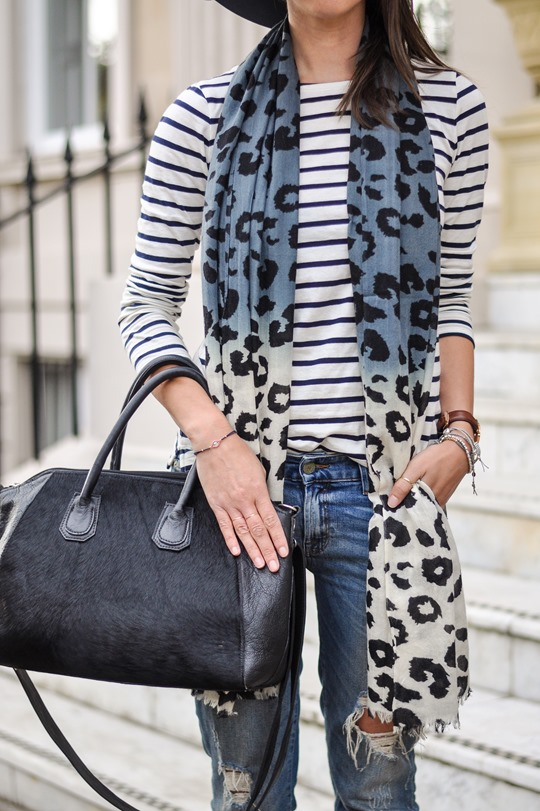 Thankfifi - Travel style in River Island blue fedora & Feather & Stone leopard scarf - fashion blogger streetstyle-6