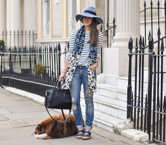 Thankfifi - Travel style in River Island blue fedora & Feather & Stone leopard scarf - fashion blogger streetstyle-3
