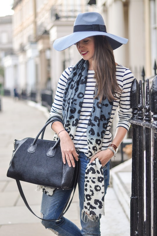 Thankfifi - Travel style in River Island blue fedora & Feather & Stone leopard scarf - fashion blogger streetstyle-4