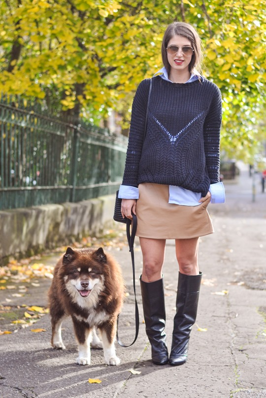Thankfifi- fringed knee high boots - fashion blogger streetstyle