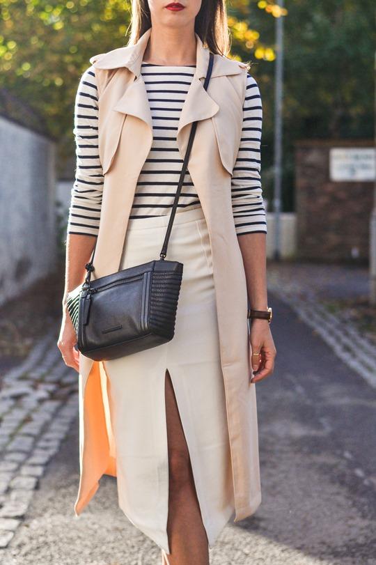 Thankfifi- sleeveless trench, breton top & ponyskin mules - fashion blogger streetstyle-10