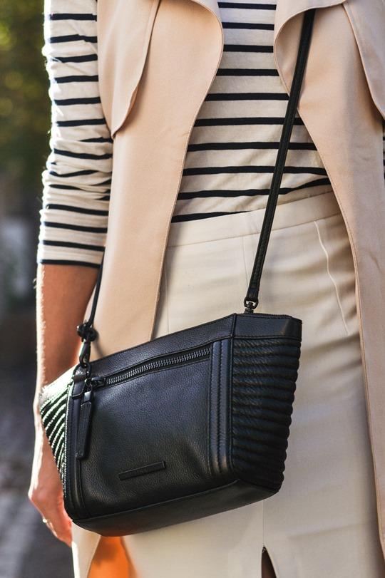 Thankfifi- sleeveless trench, breton top & ponyskin mules - fashion blogger streetstyle-11