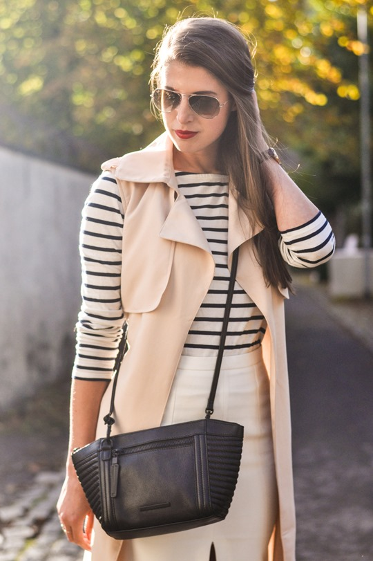 Thankfifi- sleeveless trench, breton top & ponyskin mules - fashion blogger streetstyle-5