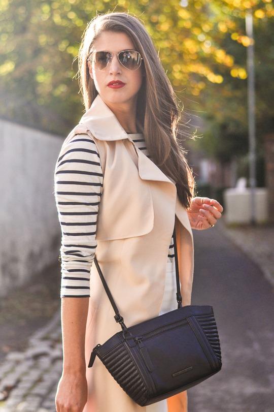 Thankfifi- sleeveless trench, breton top & ponyskin mules - fashion blogger streetstyle-6