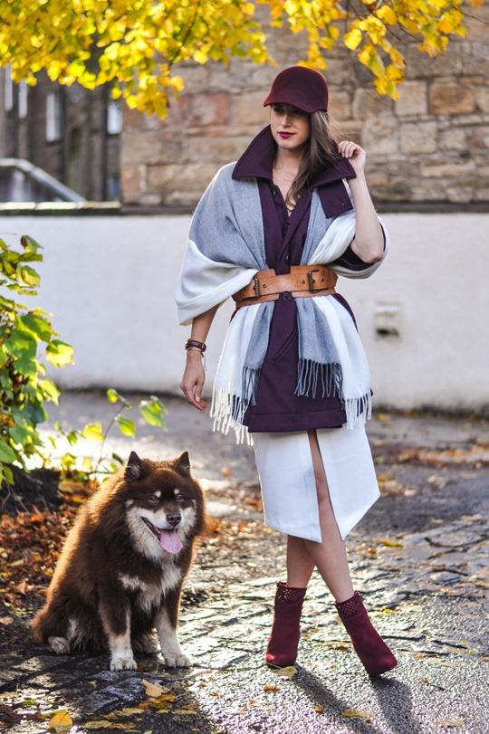 Thankfifi- Asos grey cream poncho cape 5 ways - fashion blogger style challenge-19