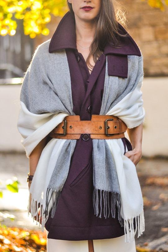 Thankfifi- Asos grey cream poncho cape 5 ways - fashion blogger style challenge-23