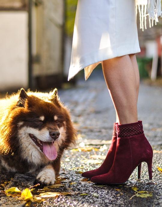 Thankfifi- Asos grey cream poncho cape 5 ways - fashion blogger style challenge-26