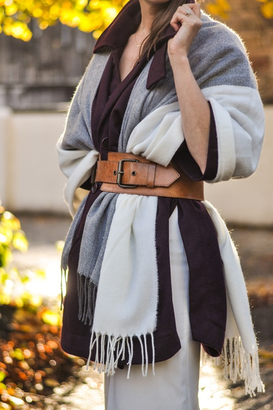 Thankfifi- Asos grey cream poncho cape 5 ways - fashion blogger style challenge-27