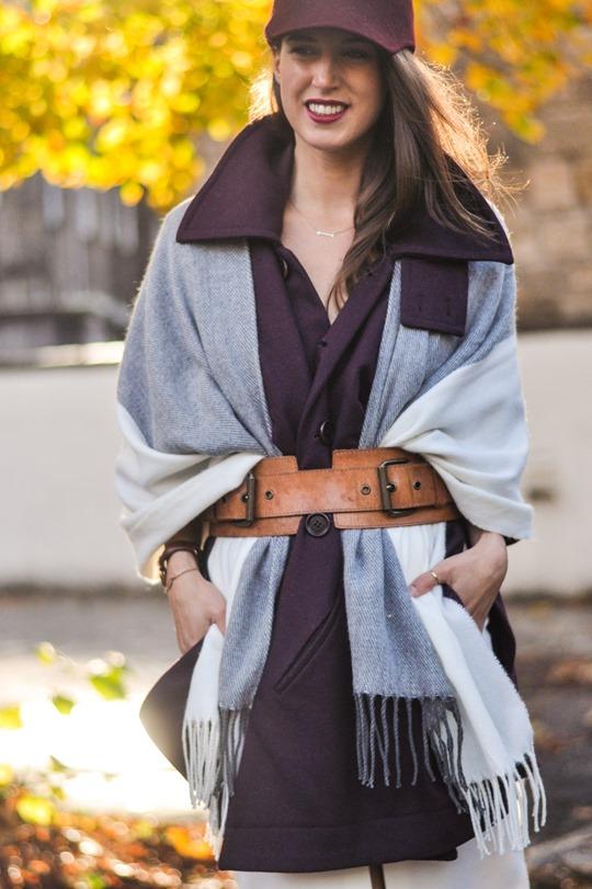 Thankfifi- Asos grey cream poncho cape 5 ways - fashion blogger style challenge-28