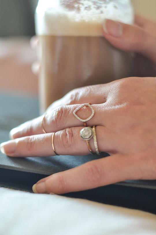 Thankfifi- Monica Vinader Riva Diamond Hoop Ring stacked