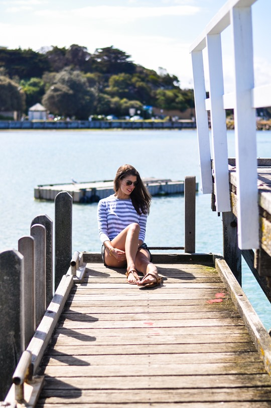 Thankfifi- The Fifth Label stripes - Sorrento Pier, Victoria, Melbourne Australia-14