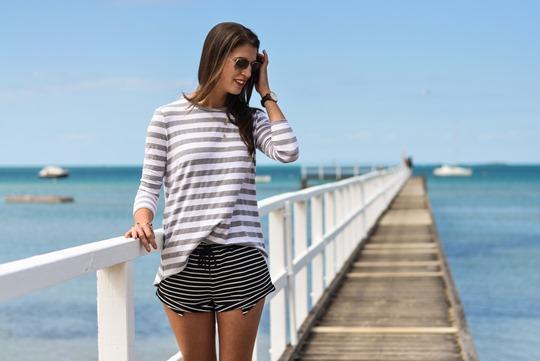 Thankfifi- The Fifth Label stripes - Sorrento Pier, Victoria, Melbourne Australia-5