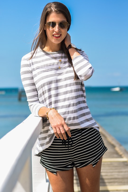 Thankfifi- The Fifth Label stripes - Sorrento Pier, Victoria, Melbourne Australia-6