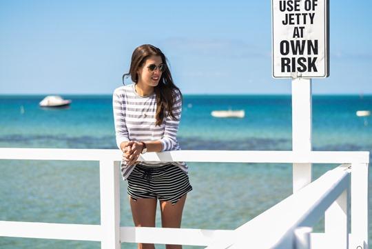 Thankfifi- The Fifth Label stripes - Sorrento Pier, Victoria, Melbourne Australia-9
