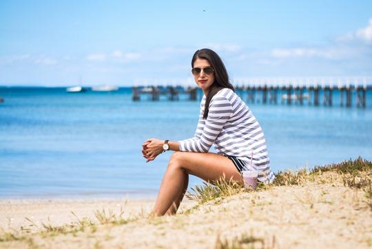 Thankfifi- The Fifth Label stripes - Sorrento Pier, Victoria, Melbourne Australia