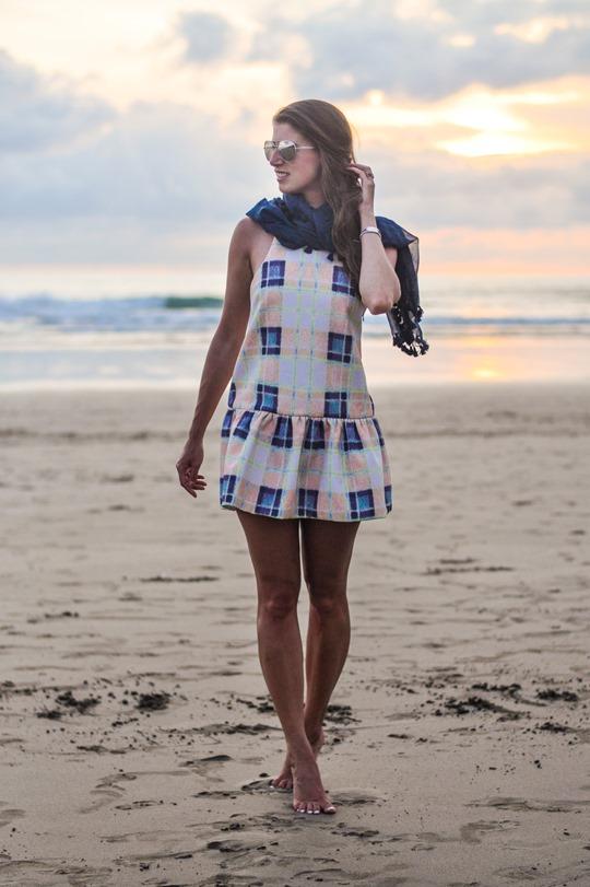 Thankfifi- Finders Keepers strange fire dress in tartan cream puff