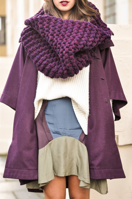 Thankfifi- Knit Knot Knit snood & Chloe cape coat - fashion blogger street style-3
