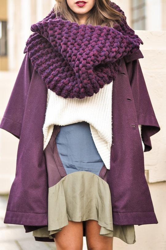 Thankfifi- Knit Knot Knit snood & Chloe cape coat - fashion blogger street style-3