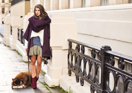 Thankfifi- Knit Knot Knit snood & Chloe cape coat - fashion blogger street style-4
