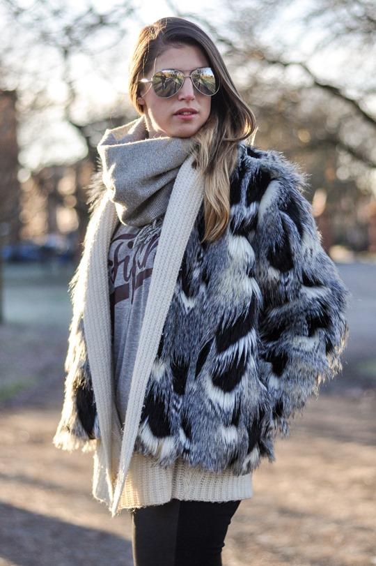 Thankfifi- Patchwork fur jacket - fashion blogger streetstyle Glasgow-3