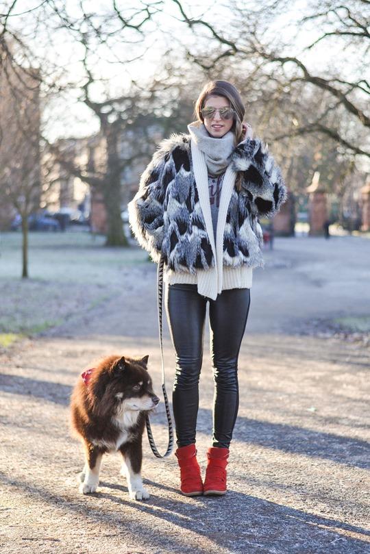 Thankfifi- Patchwork fur jacket - fashion blogger streetstyle Glasgow
