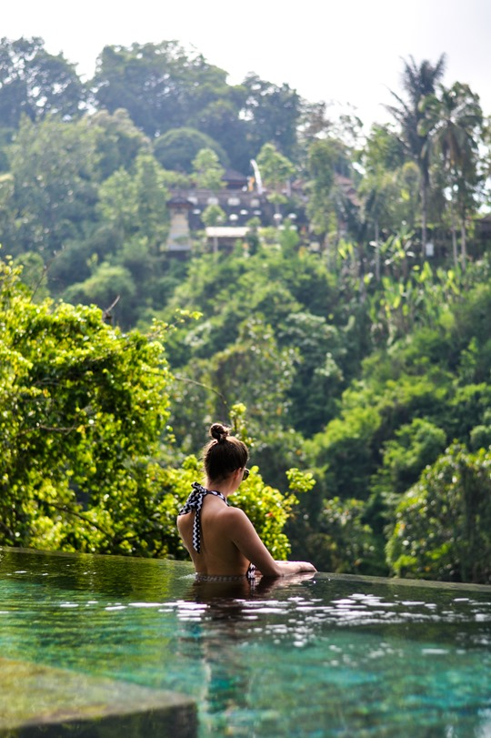 Thankfifi- Seafolly Mod Club high neck swimsuit - Hanging Gardens private villa pool, Ubud, Bali-3