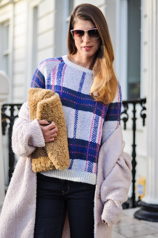 Thankfifi- Stella McCartney plaid jumper lookalike by H&M-4