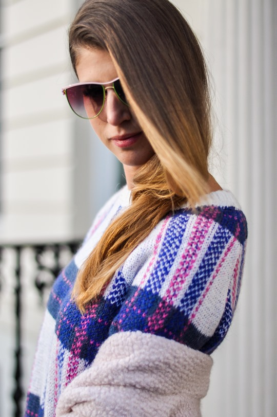 Thankfifi- Stella McCartney plaid jumper lookalike by H&M-8
