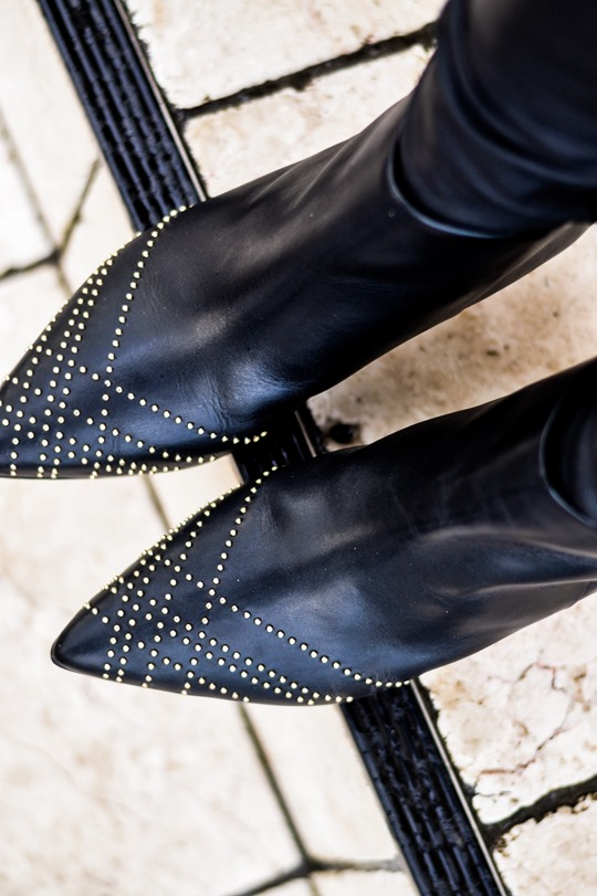 Thankfifi- Reiss Calla studded leather ankle boots-3