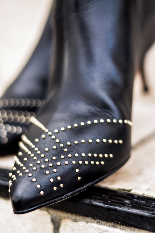Thankfifi- Reiss Calla studded leather ankle boots-5