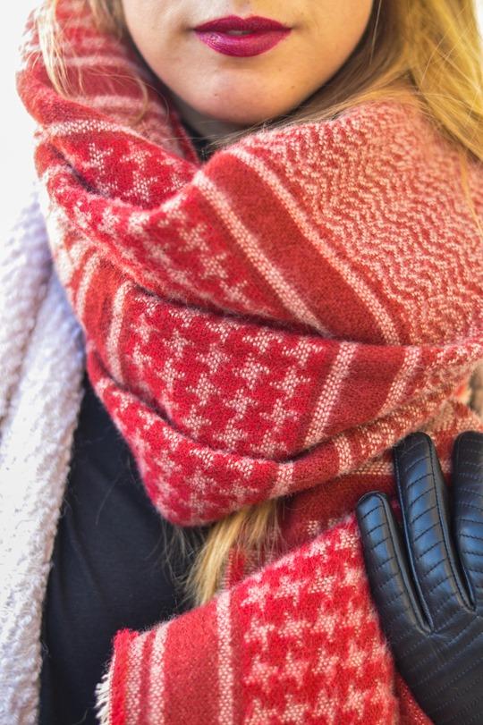 Thankfifi- Zara blanket scarf - scottish fashion blogger streetstyle-9