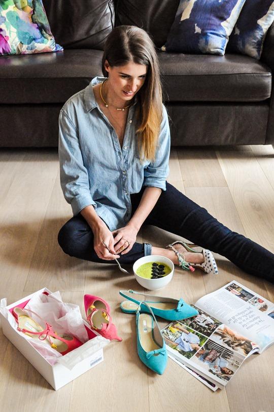 Thankfifi- Boden polkadot Alice heels & mango, avocado, kale smoothie bowl-5