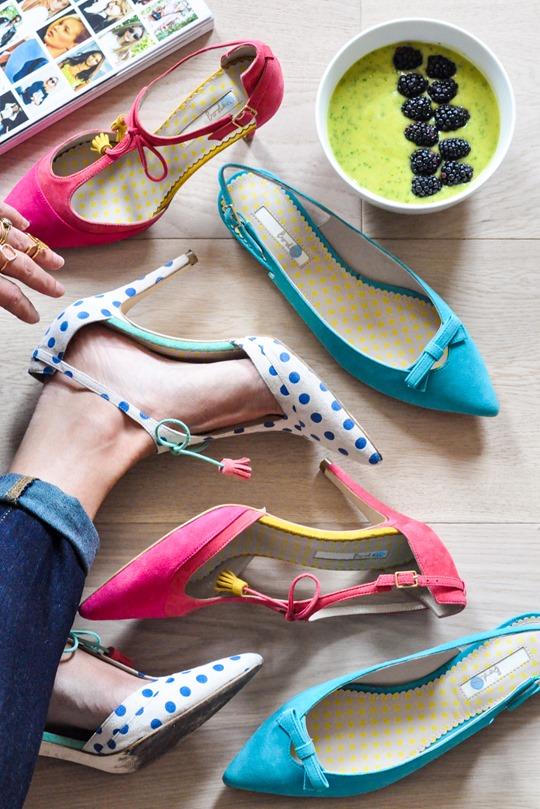 Thankfifi- Boden polkadot Alice heels & mango, avocado, kale smoothie bowl-6