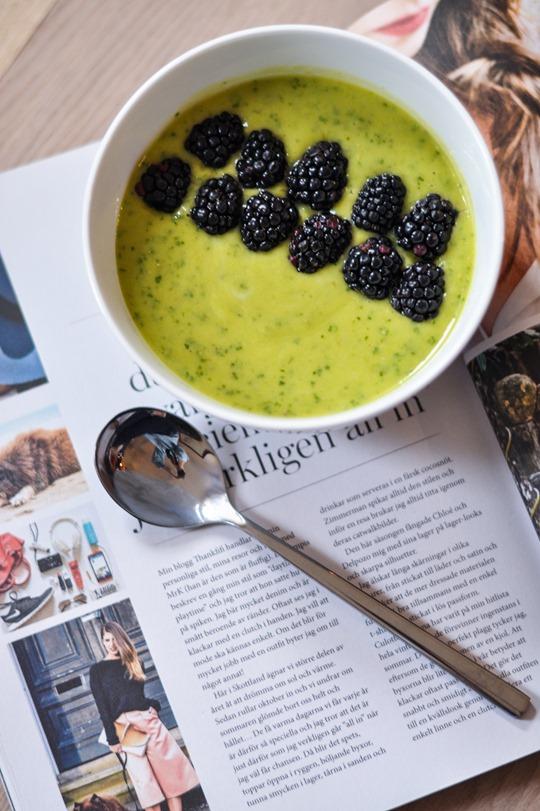 Thankfifi- Boden polkadot Alice heels & mango, avocado, kale smoothie bowl-9