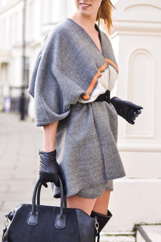 Thankfifi- Refashion - styling a cape as a dress-8