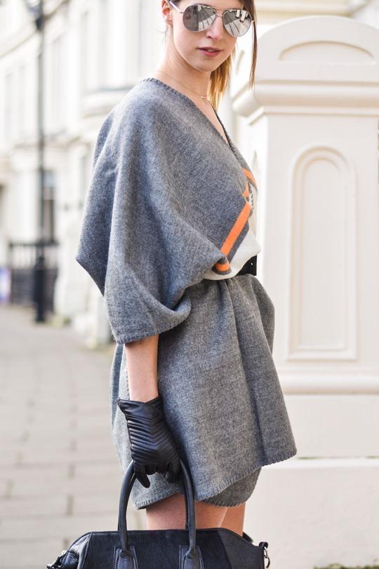 Thankfifi- Refashion - styling a cape as a dress-9