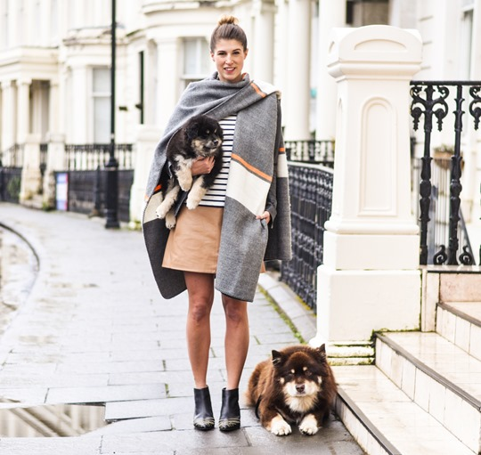 Thankfifi- Topshop blanket cape & a Finnish Lapphund puppy-10