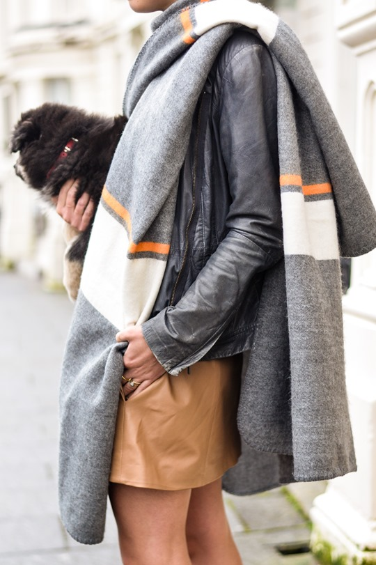 Thankfifi- Topshop blanket cape & a Finnish Lapphund puppy-8