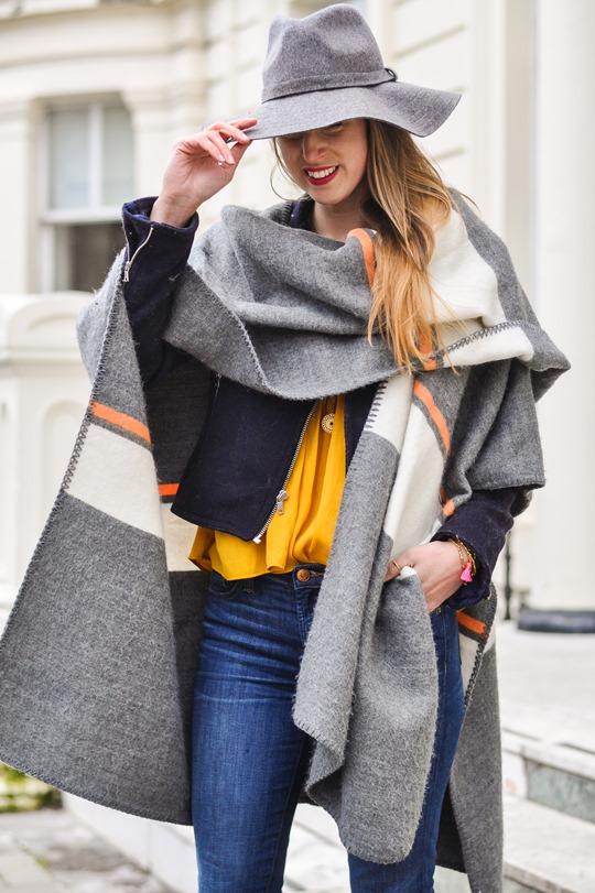 Thankfifi- Crusader - Topshop blanket cape & Boden Alice heels-7