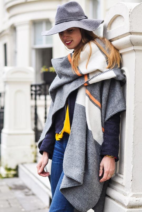 Thankfifi- Crusader - Topshop blanket cape & Boden Alice heels-8
