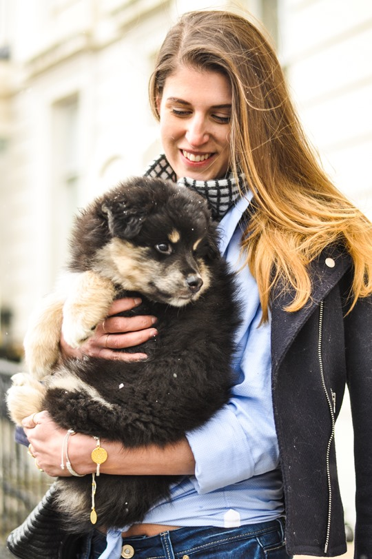 Thankfifi- Flares & layers streetstyle w the Finnish Lapphund puppy-6