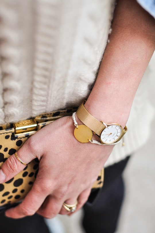Thankfifi- Gant Rugger cable knit jumper & the Zac Posen leopard bow clutch-8