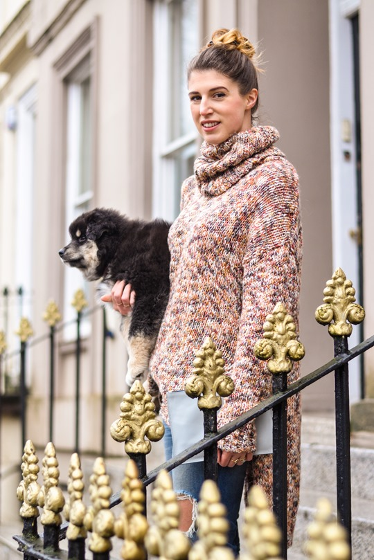 Thankfifi- Glasgow street style with the Finnish Lapphund furries-10