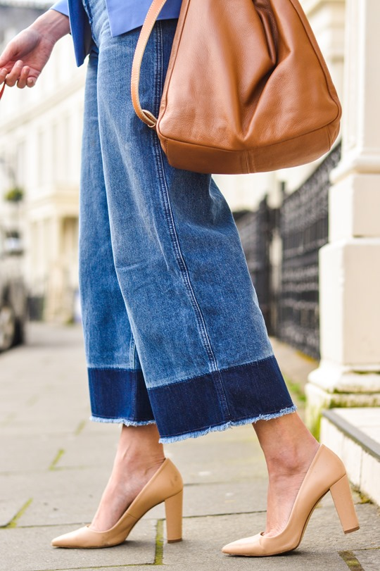 70 39 S Street Style H M Trend Denim Culottes Thankfifi Uk Fashion Blog By Wendy H Gilmour