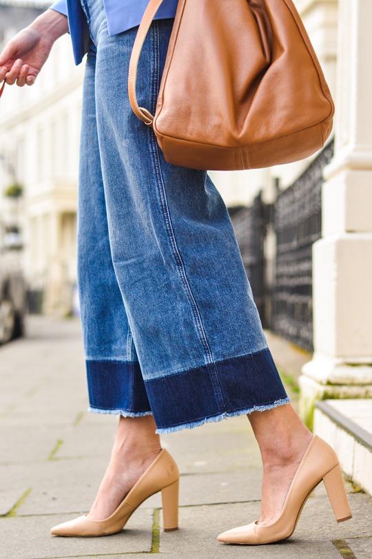 70 39 S Street Style H M Trend Denim Culottes Thankfifi