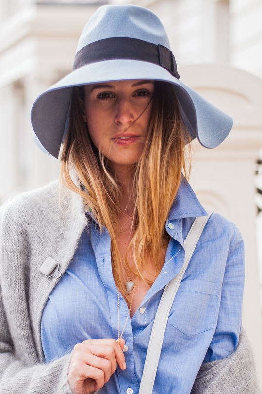 Thankfifi-  Spring styling - fringing, ripped denim & a blue fedora-12