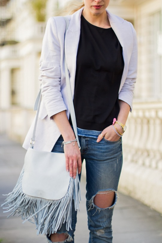 Thankfifi- Boden Thelma heel mules & Next white leather fringe saddle bag - a look for London meetings-3
