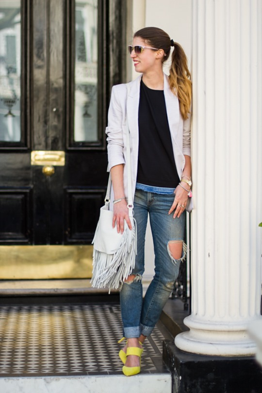 Thankfifi- Boden Thelma heel mules & Next white leather fringe saddle bag - a look for London meetings-7